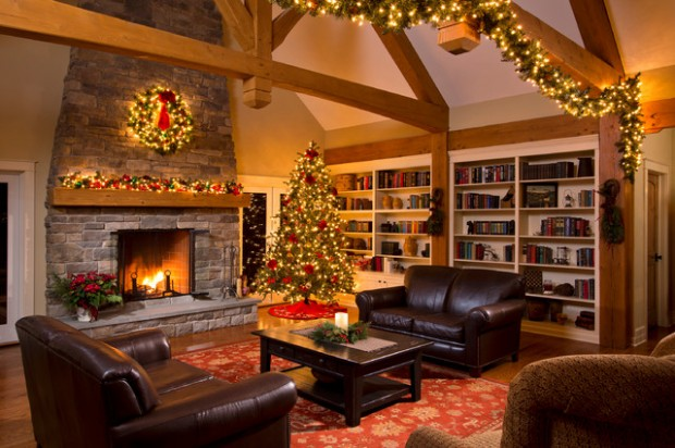 20 Brilliant Ideas How to Decorate Your Living Room for Christmas (14)