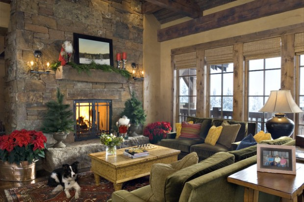 20 Brilliant Ideas How to Decorate Your Living Room for Christmas (20)