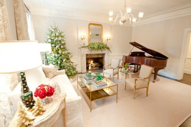 20 Brilliant Ideas How to Decorate Your Living Room for Christmas (4)