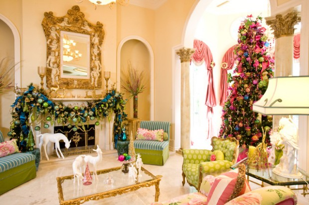 20 Brilliant Ideas How to Decorate Your Living Room for Christmas (7)