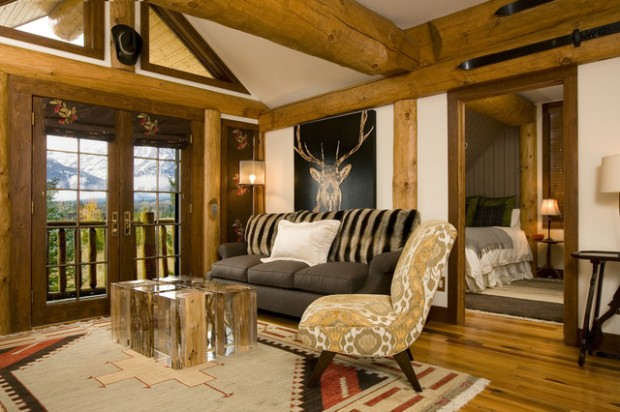 18 Cozy Rustic Living Room Design Ideas
