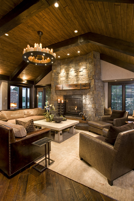 18 cozy rustic living room design ideas style motivation for Living room ideas cozy