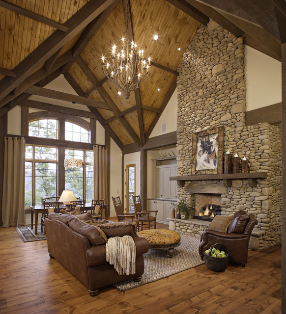 18 cozy rustic living room design ideas style motivation - Rustic chic living room ...