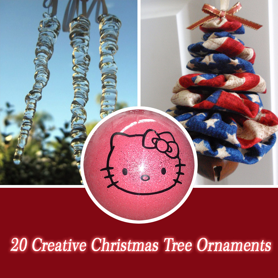 20 creative christmas tree ornaments style motivation for Creative christmas ornaments homemade