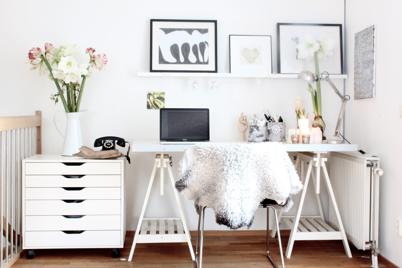 20 creative ways to organize your work space style for Bureau blanc ikea