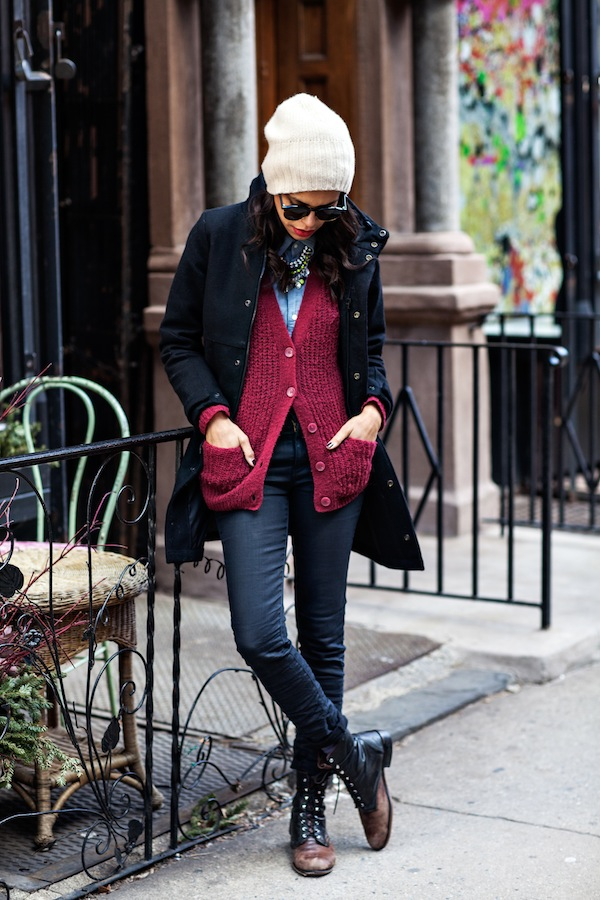 20 Cute Outfit Ideas with Beanie (16)