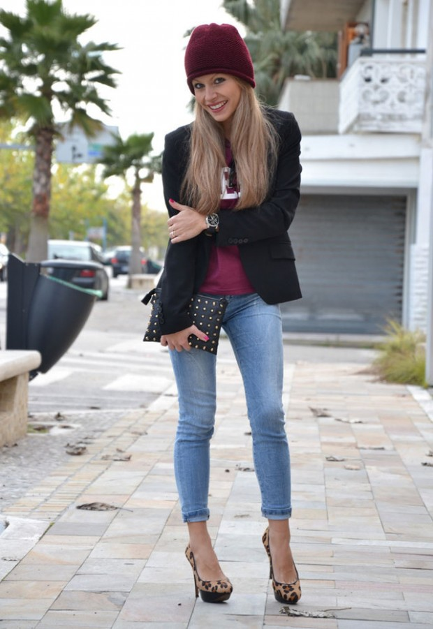 20 Cute Outfit Ideas with Beanie (19)