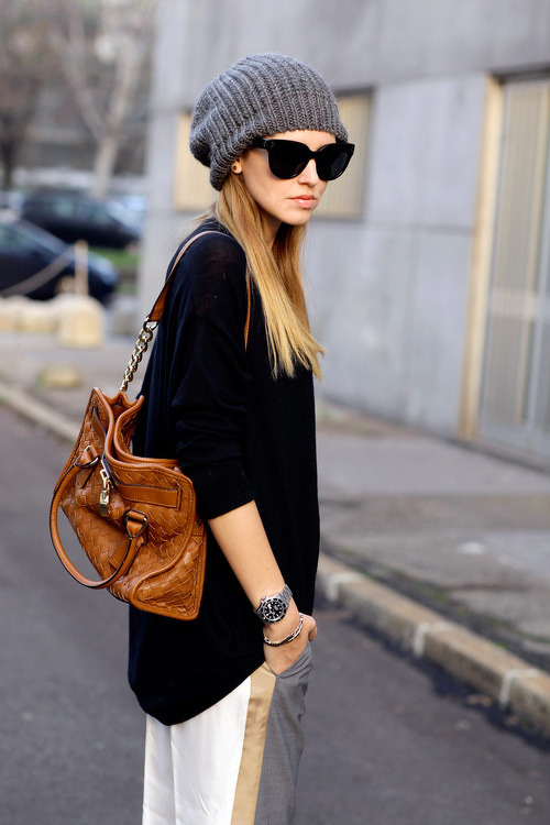 20 Cute Outfit Ideas with Beanie (8)