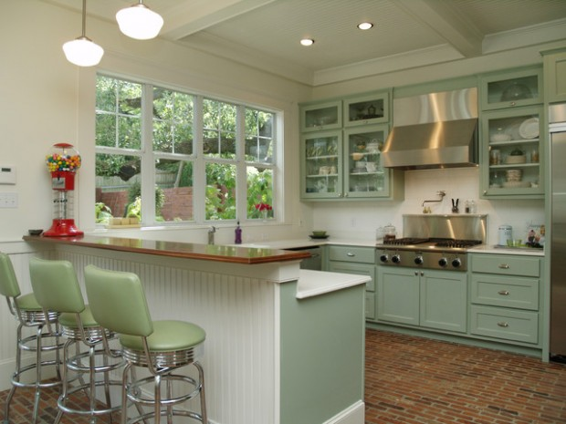 20 great kitchen design ideas in retro style style for Great kitchen remodel ideas
