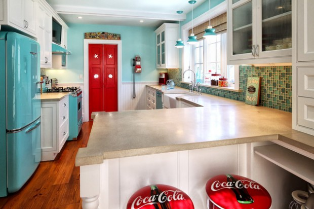 20 Great Kitchen Design Ideas in Retro Style (8)