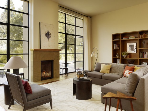 21 Amazing Living Room Design Ideas with Window Wall (12)
