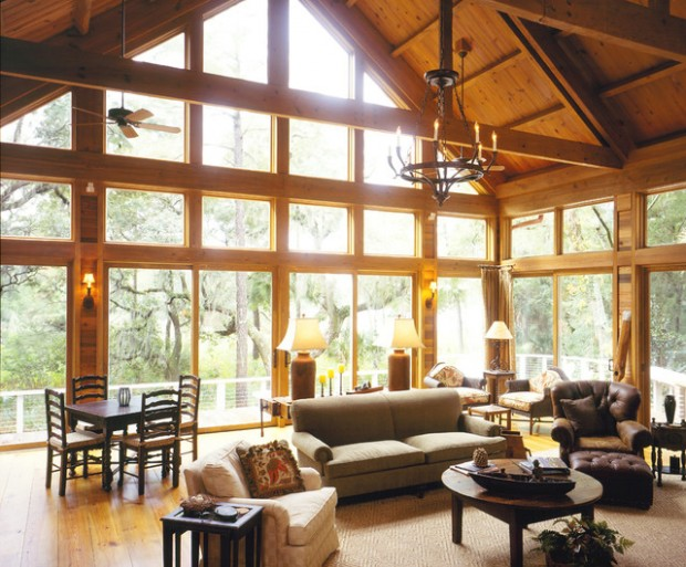 19 Amazing Living Room Design Ideas with Window Wall - Style Motivation