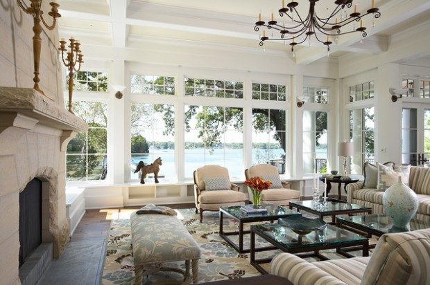 21 Amazing Living Room Design Ideas with Window Wall (20)