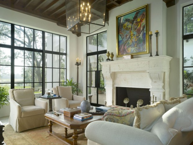 21 Amazing Living Room Design Ideas with Window Wall (8)