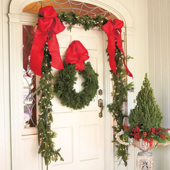 20 Great Christmas Front Door Decorating Ideas  Style Motivation