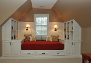 21 Great Reading Nook Design Ideas for Kids - window nook, kids study room, kids reading nooks