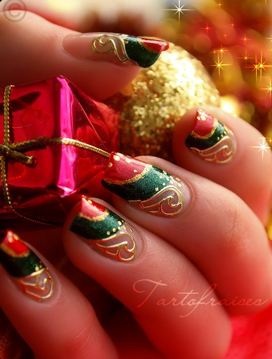 23 Amazing Christmas Nail Design Ideas - 23 Amazing Christmas Nail Design Ideas - Style Motivation
