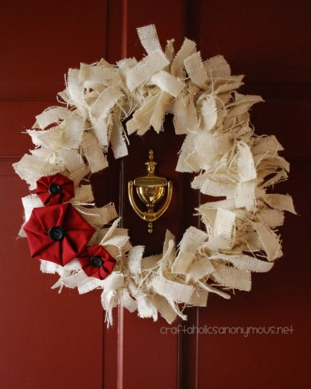 23 great diy christmas wreath ideas style motivation Burlap xmas wreath