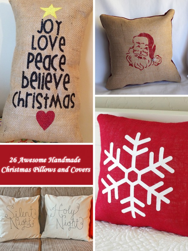 26 Awesome Handmade Christmas Pillows and Covers (0)