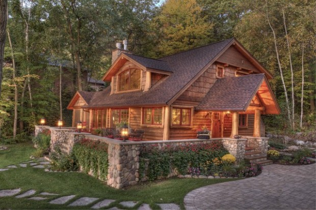 20 amazing rustic house design ideas style motivation for Lake cabin design ideas
