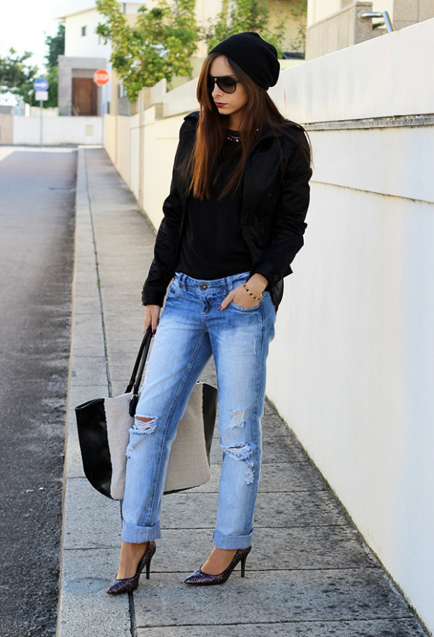 Boyfriend Jeans for Stylish Cozy Look