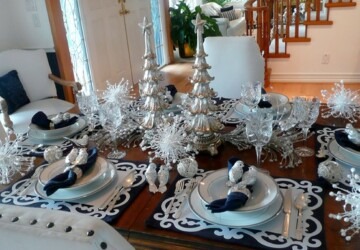 19 Gorgeous Christmas Table Decoration Ideas - christmas table decoration, christmas decoration, christmas centerpiece, Christmas