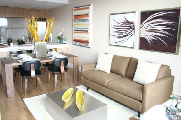 Condo Interior Design Ideas condo interior design ideas living rooms with red couches on condo 20 Modern Condo Design Ideas