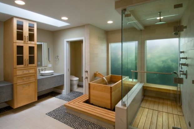 Peaceful Zen Bathroom Design Ideas for Relaxation in Your Home (13)