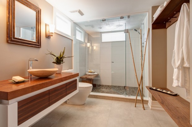 21 peaceful zen bathroom design ideas for relaxation in for Deco salle de bain zen