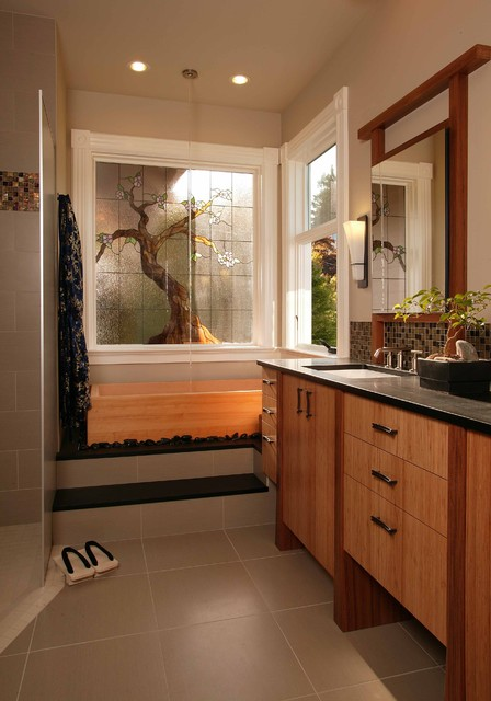 21 Peaceful Zen Bathroom Design Ideas for Relaxation in ... on Contemporary:kkgewzoz5M4= Small Bathroom Ideas  id=26603