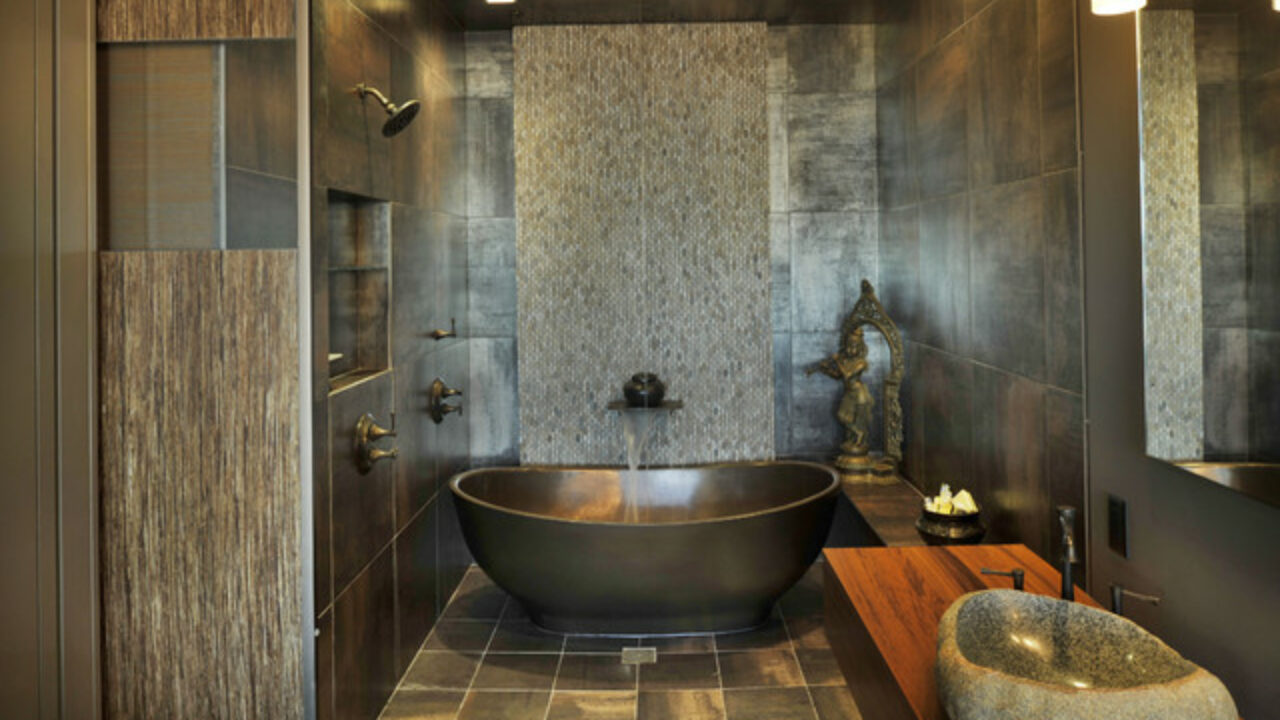 21 Peaceful Zen Bathroom Design Ideas for Relaxation in Your ... on zen master bathrooms, zen themed bathrooms, zen color scheme ideas, calming bedroom paint colors, zen garden, cream cabinets with taupe paint colors, zen room, zen bath, spa paint colors, zen inspiration,