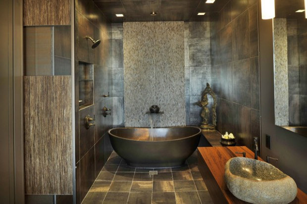 Peaceful Zen Bathroom Design Ideas for Relaxation in Your Home (22)