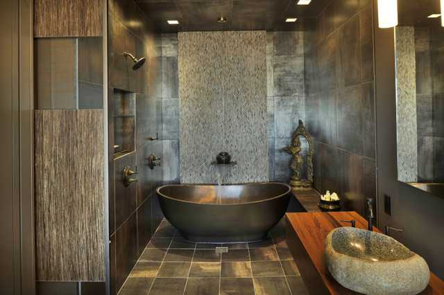 21 peaceful zen bathroom design ideas for relaxation in for Home decor zen