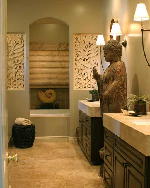 21 peaceful zen bathroom design ideas for relaxation in your home style motivation for Idee deco wc zen