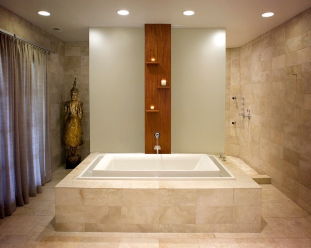 Peaceful Zen Bathroom Design Ideas for Relaxation in Your Home (8)