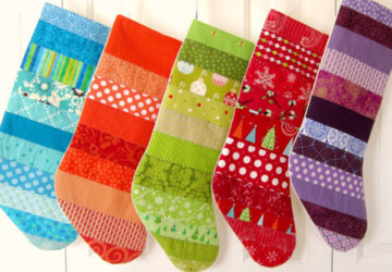 15 Beautiful Handmade Christmas Stocking Designs - worldwide, winter, unique, stocking, snowman, snow, season, santa, red, personalized, patchwork, owl, north pole, holiday, handmade, green, elf, collection, Christmas, burlap
