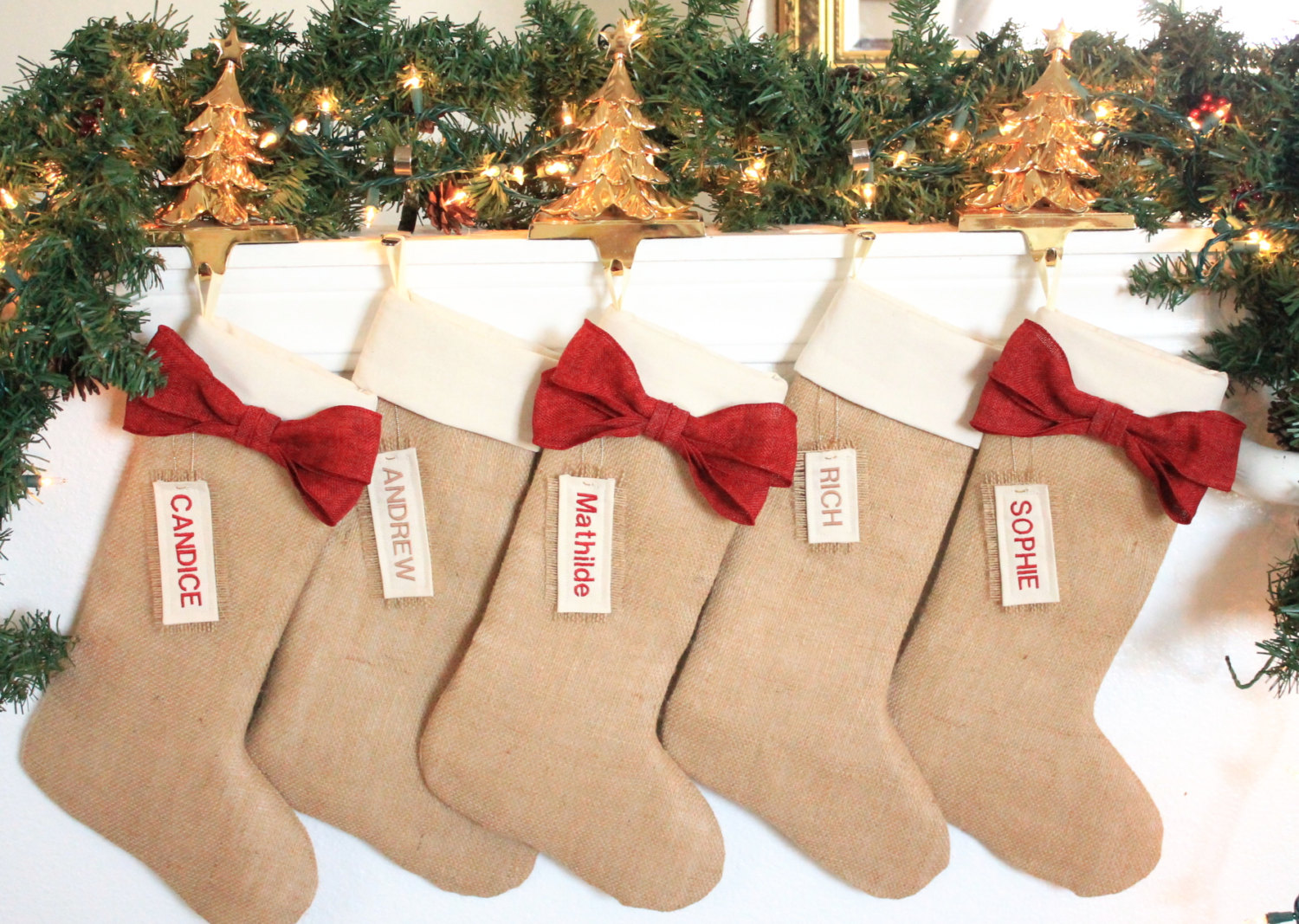 Personalized Red Christmas Stockings