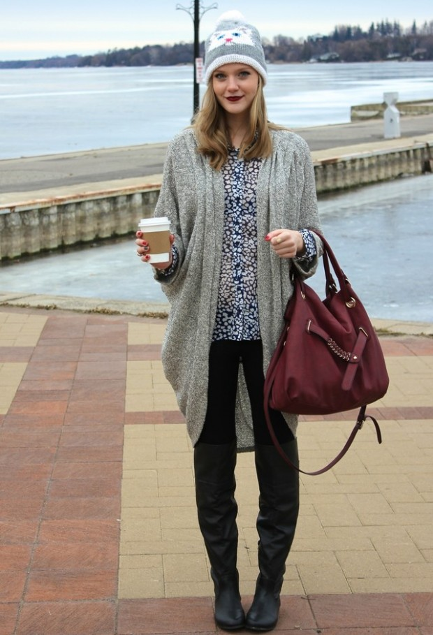 15 Stylish Winter Outfit Ideas with Boots (10)