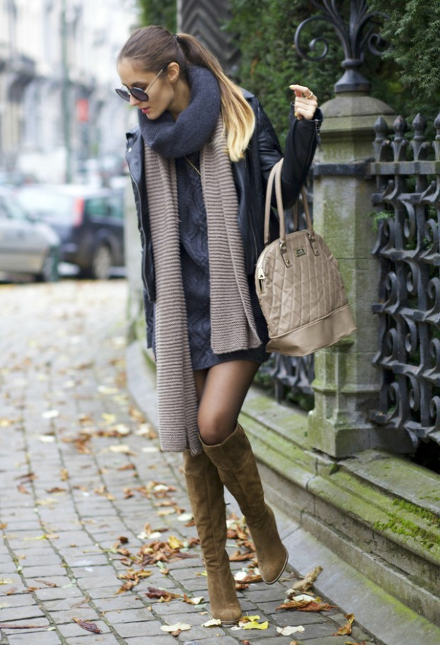 15 Stylish Winter Outfit Ideas with Boots (13)