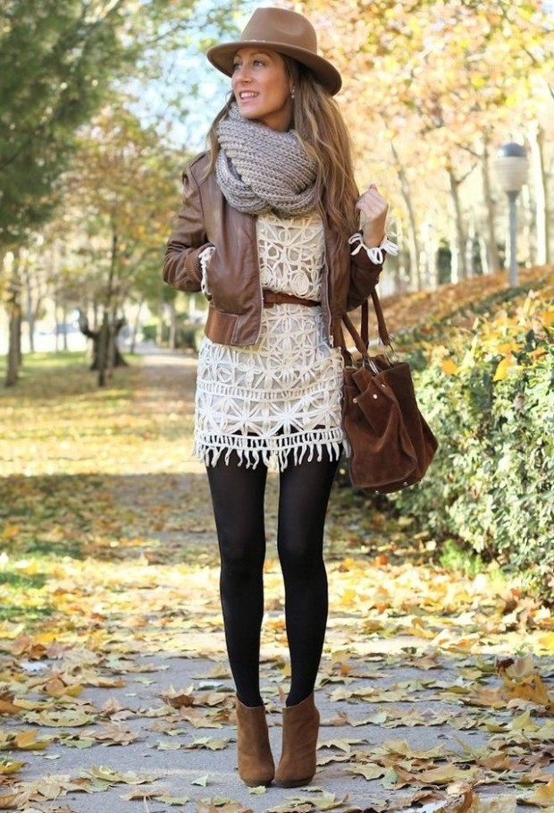 winter dress with booties