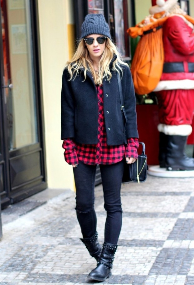 15 Stylish Winter Outfit Ideas with Boots (15)