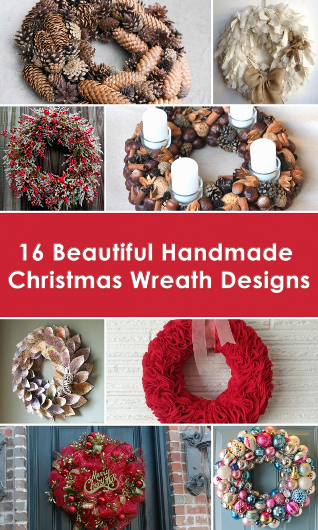 16 Beautiful Handmade Christmas Wreath Designs (00)