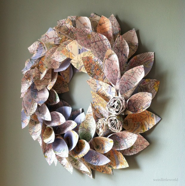 16 Beautiful Handmade Christmas Wreath Designs (12)