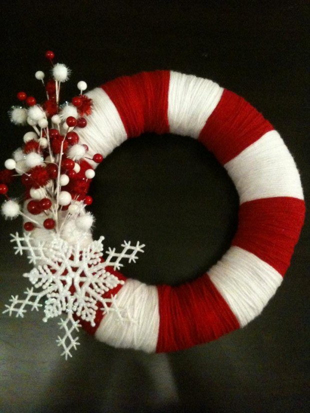 16 Beautiful Handmade Christmas Wreath Designs (7)