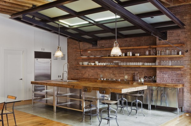 15 Urban Interior Design Ideas in Industrial Style