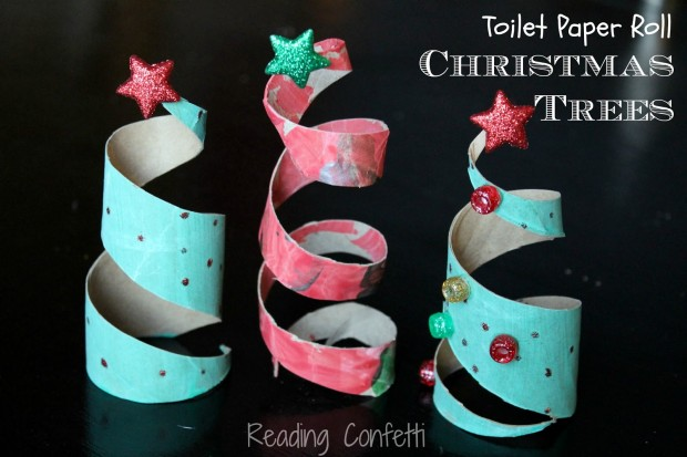 17 easy last minute diy christmas decorations style Toilet paper roll centerpieces