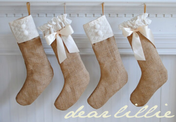 18 Creative and Easy DIY Christmas Stocking - Diy Christmas stocking, Diy Christmas