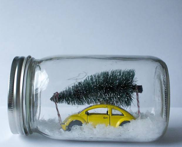 18 Cute and Creative DIY Snow Globe Ideas  (8)