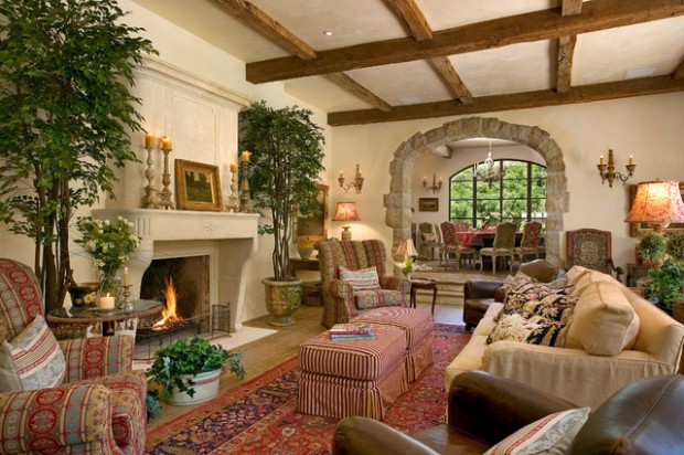 18 Gorgeous Living Room Design Ideas in Mediterranean Style (17)
