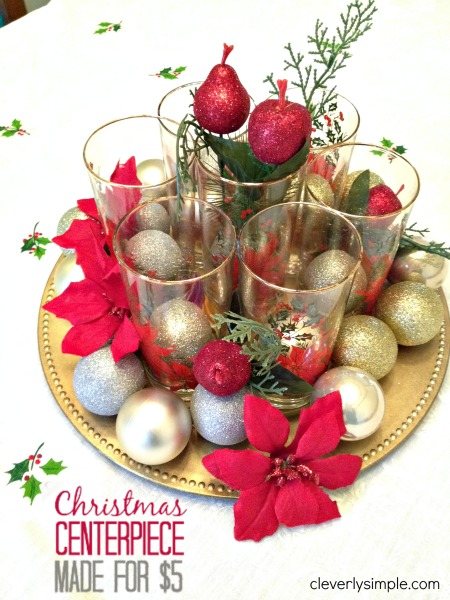 19 simple and elegant diy christmas centerpieces - Diy Christmas Centerpieces